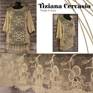 Knit Lace Tunic with Pockets by Tiziana Cervasio